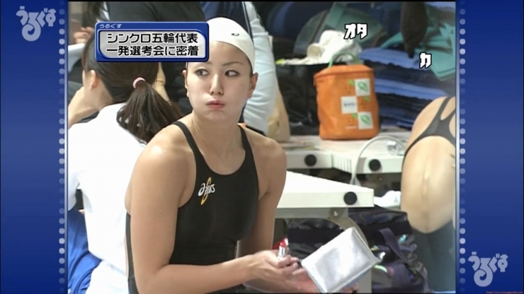 Aoi Aoki swimsuit swimsuit image Synchronized with the first round of the Olympic Games041