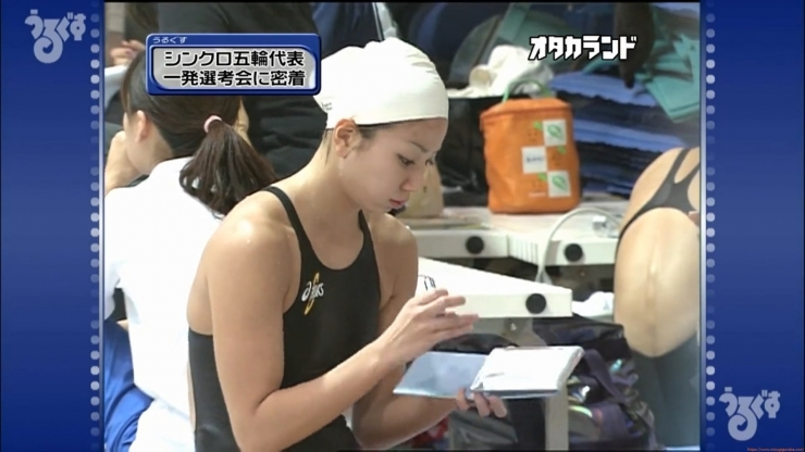 Aoi Aoki swimsuit swimsuit image Synchronized with the first round of the Olympic Games044