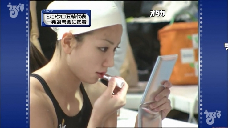 Aoi Aoki swimsuit swimsuit image Synchronized with the first round of the Olympic Games046