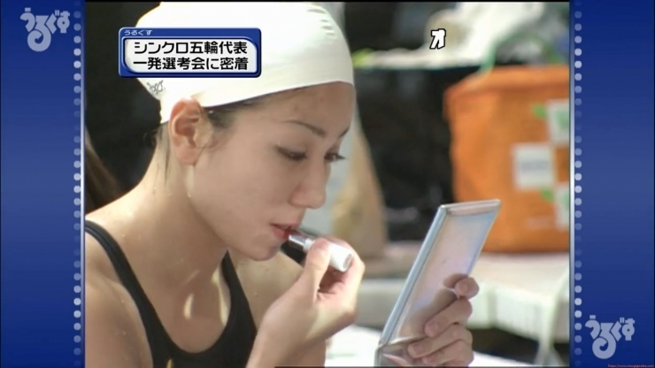 Aoi Aoki swimsuit swimsuit image Synchronized with the first round of the Olympic Games048