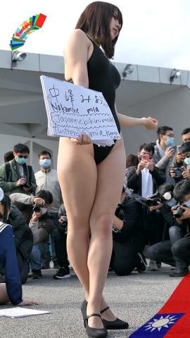 Mia Nakamine High Legged Swimsuit Image Black Photo Session004