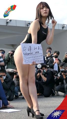 Mia Nakamine High Legged Swimsuit Image Black Photo Session008