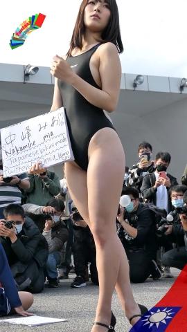 Mia Nakamine High Legged Swimsuit Image Black Photo Session010