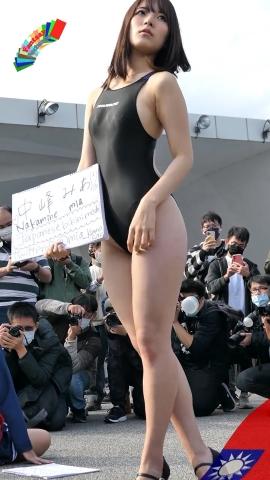 Mia Nakamine High Legged Swimsuit Image Black Photo Session011