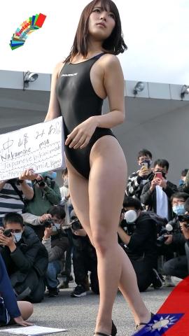 Mia Nakamine High Legged Swimsuit Image Black Photo Session012