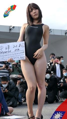Mia Nakamine High Legged Swimsuit Image Black Photo Session013