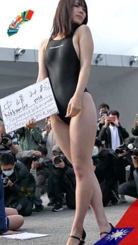 Mia Nakamine High Legged Swimsuit Image Black Photo Session018