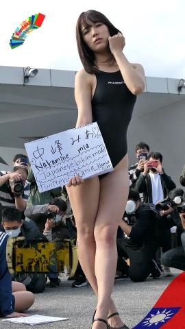 Mia Nakamine High Legged Swimsuit Image Black Photo Session021