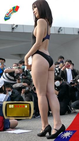 Mia Nakamine High Legged Swimsuit Image Black Photo Session030