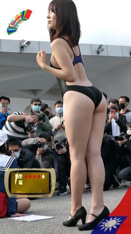 Mia Nakamine High Legged Swimsuit Image Black Photo Session031