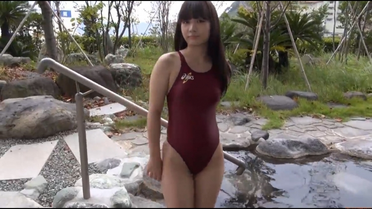 Beautiful girls tight swimming suit hot spring023