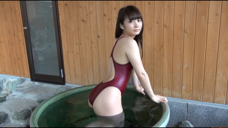 Beautiful girls tight swimming suit hot spring053