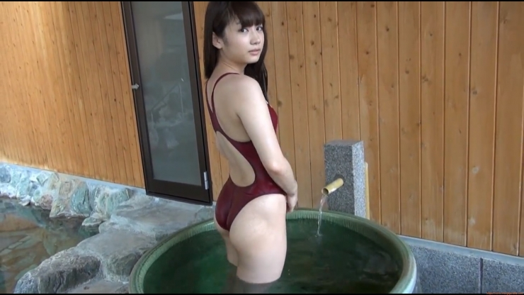 Beautiful girls tight swimming suit hot spring052