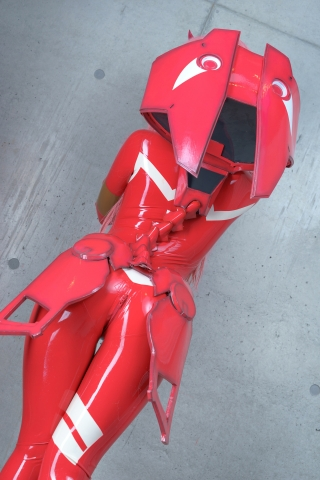 Pilot Suit Undressing Zero Two Darling in the Frankis Cosplay003