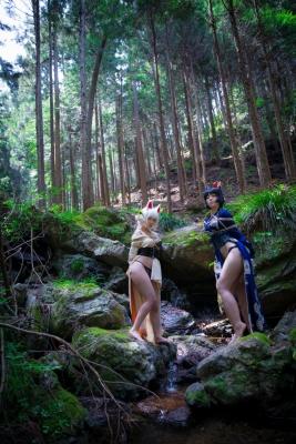 Restrained Fox Cosplay Underwear Image030