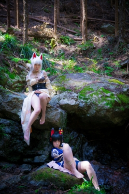 Restrained Fox Cosplay Underwear Image039