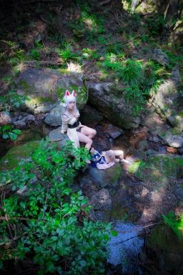 Restrained Fox Cosplay Underwear Image040