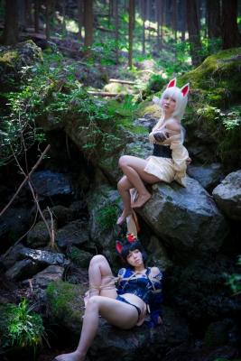 Restrained Fox Cosplay Underwear Image045