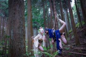 Restrained Fox Cosplay Underwear Image073