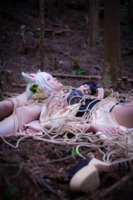 Restrained Fox Cosplay Underwear Image086