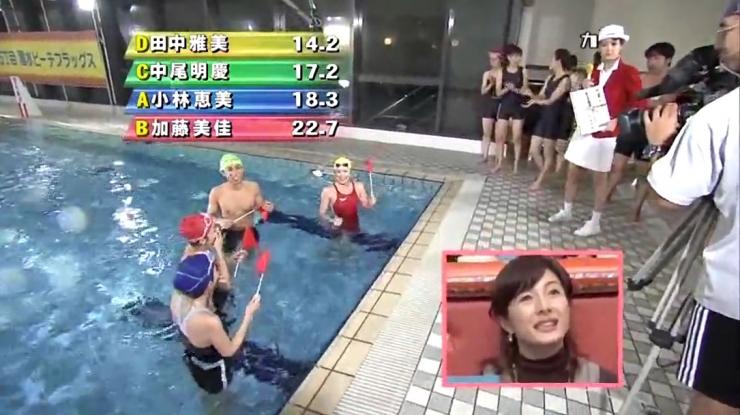 Masami Tanaka Red Swimming Costume005