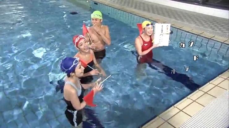 Masami Tanaka Red Swimming Costume011