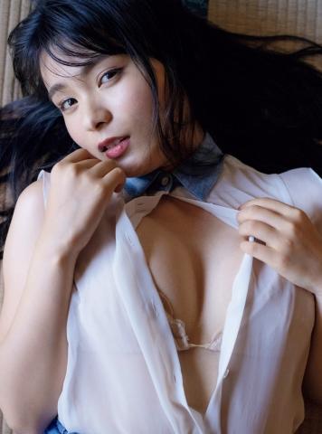 Mitsunori HoshinaCute expression and round H cup bust gravure idol004