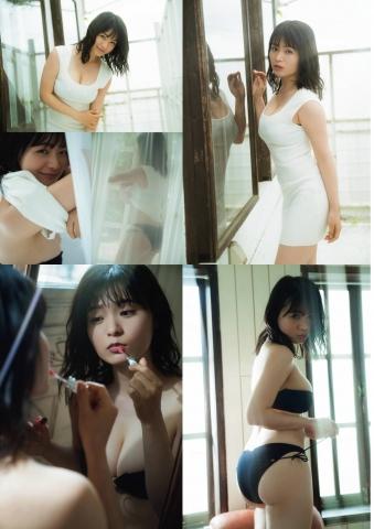 Mitsunori HoshinaCute expression and round H cup bust gravure idol009