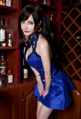 Tifa Lockhart Dress Version Cosplay012