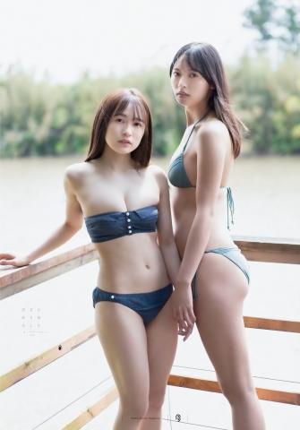 Nagisa Hayakawa Riko Otsuki Swimsuit Gravure Miss Magazine 2020 Two Spaces008