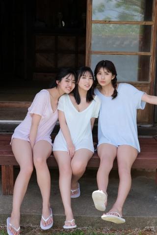 Aika Sawaguchi Luna Toyoda Haruka Arai Bouncy Bikini007