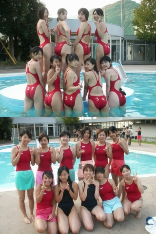 Kyoko swimming competition swimsuit image summary swimming swimming cavalcade pool competition school swimsui2t002