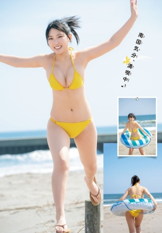 Aika Sawaguchi Ahead of summer the strongest body with a fresh smile008