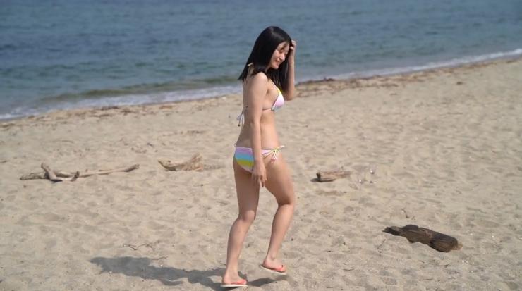 Rei Kaminishis gravure photo shoot at sea030