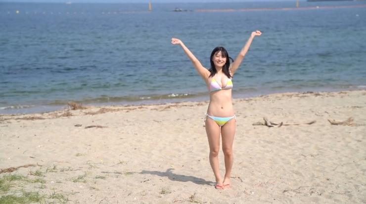 Rei Kaminishis gravure photo shoot at sea032
