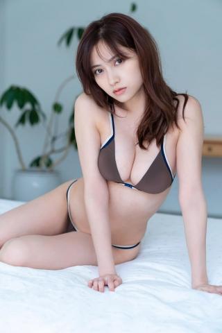 Nashiko Momotsuki Shita bikini Brown bikini Red lingerie010