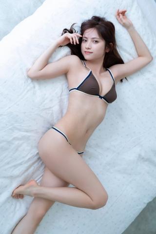 Nashiko Momotsuki Shita bikini Brown bikini Red lingerie011