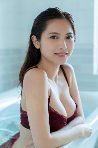 Nashiko Momotsuki Shita bikini Brown bikini Red lingerie013
