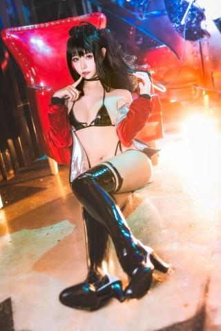 Devils Black Bikini Oho Azur Lane Cosplay003