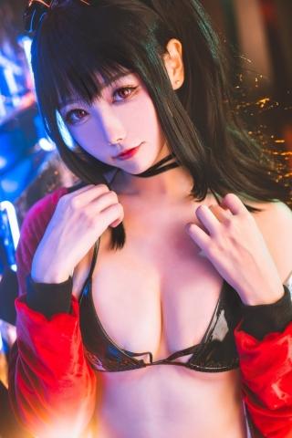 Devils Black Bikini Oho Azur Lane Cosplay002