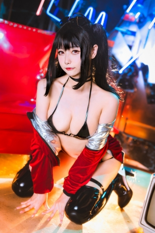 Devils Black Bikini Oho Azur Lane Cosplay004