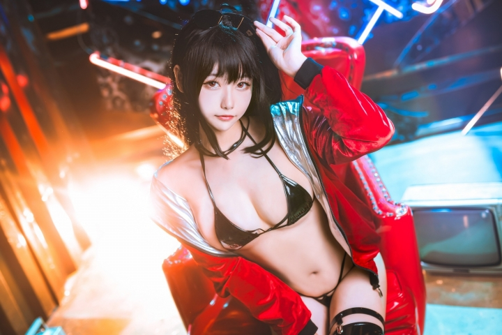 Devils Black Bikini Oho Azur Lane Cosplay014