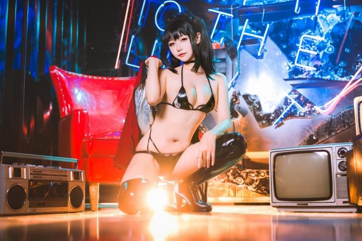 Devils Black Bikini Oho Azur Lane Cosplay011