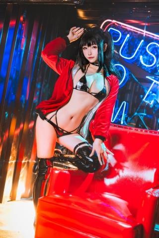 Devils Black Bikini Oho Azur Lane Cosplay016