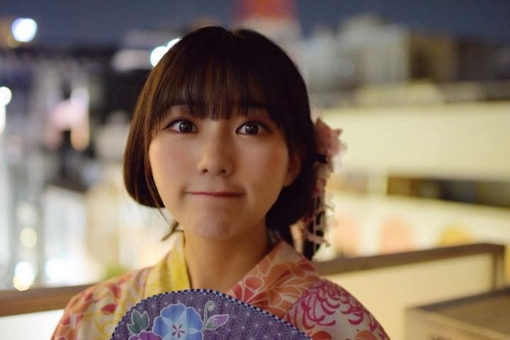 HKT48 Miku Tanakas casual broken face and bland expression015