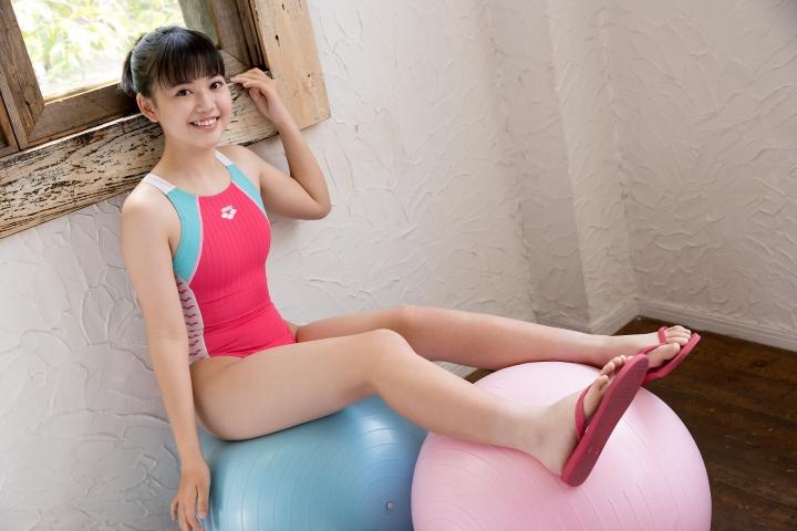 Hinari Sakiba Arena swimming suit pink031