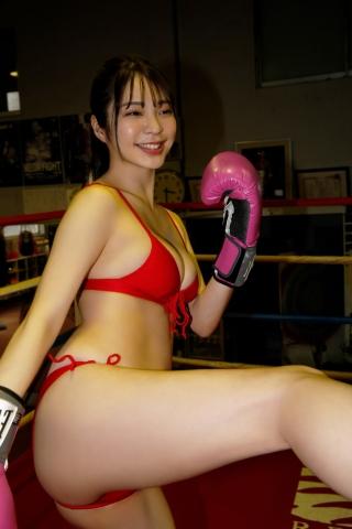 Marina Serizawa kickboxing in a swimsuit008