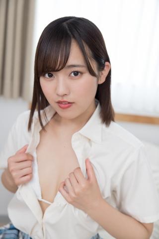 Anju Kouzuki Uniform White Swimsuit String Bikini Undressing031