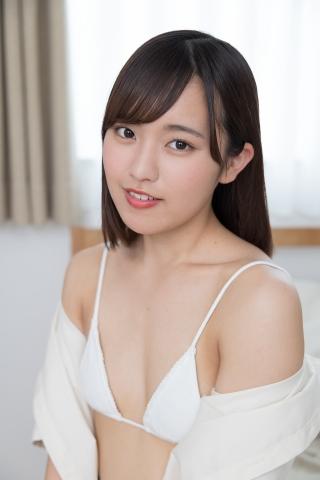 Anju Kouzuki Uniform White Swimsuit String Bikini Undressing035