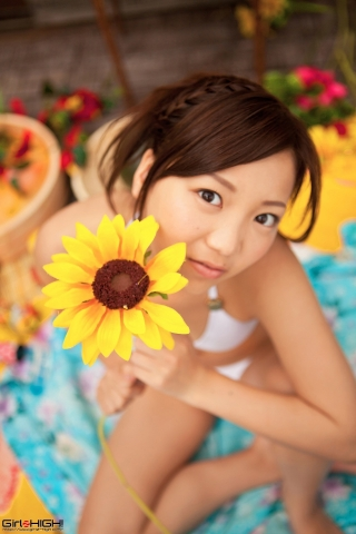 Fuka Nishihama Yukata undressing white swimsuit bikini039